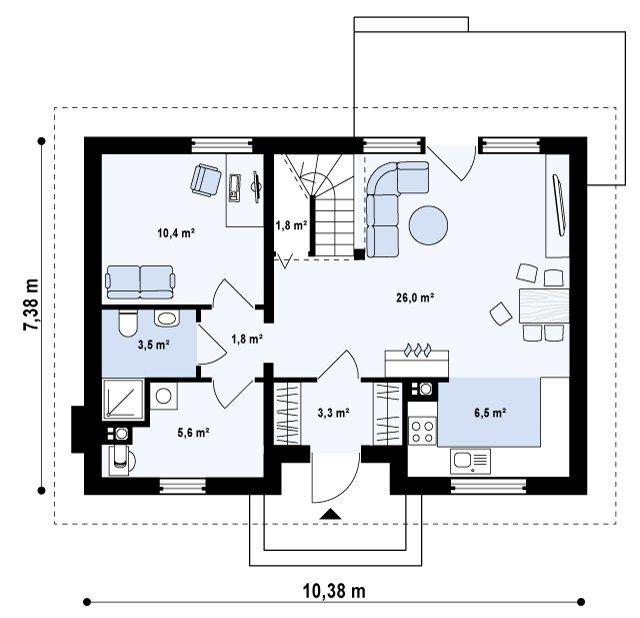 Строительство небольшого дома проекты
